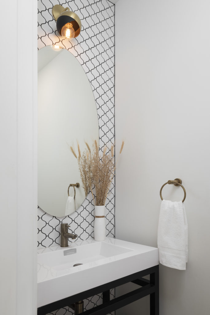 Powder room, east york, toronto, addition, extension, feature, design