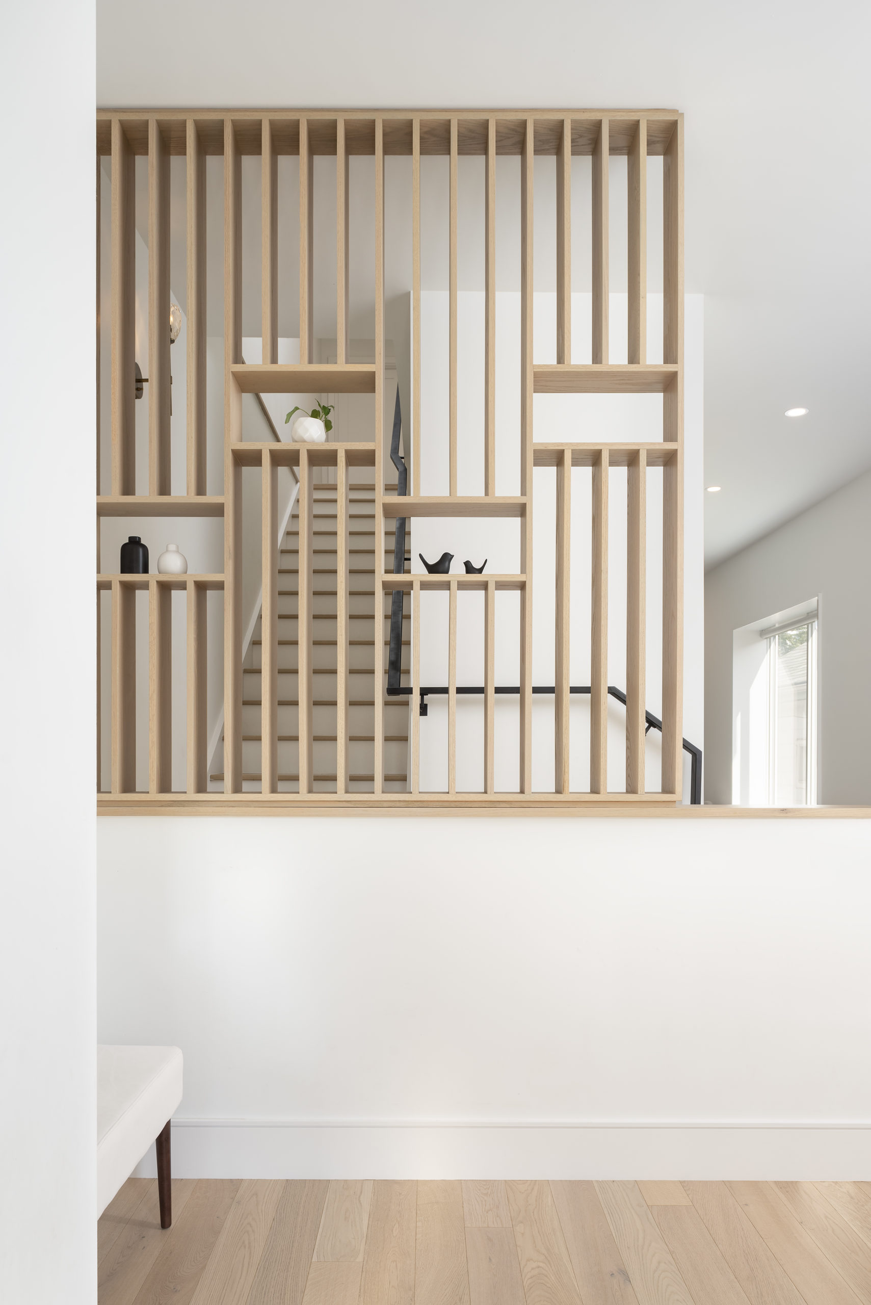 screen, east york, toronto, addition, extension, feature, design, staircase, entry, foyer